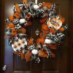 Fall Pumpkin Buffalo Plaid Wreath Mooshu Jenne