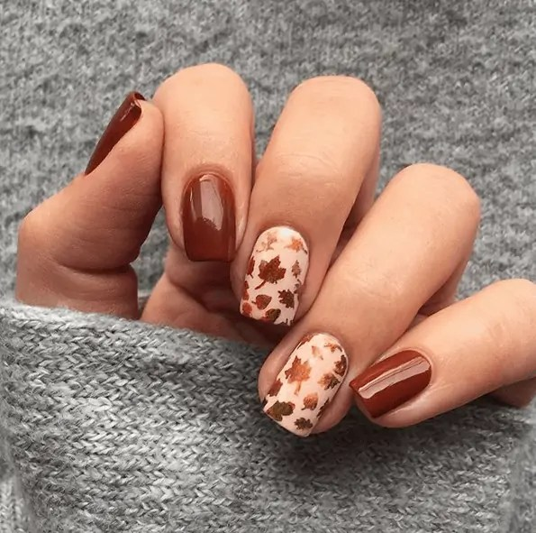 Sweater Weather Fall Nails | Fall Nail Design Ideas That Are Totally On Trend #nails #nailart #fall