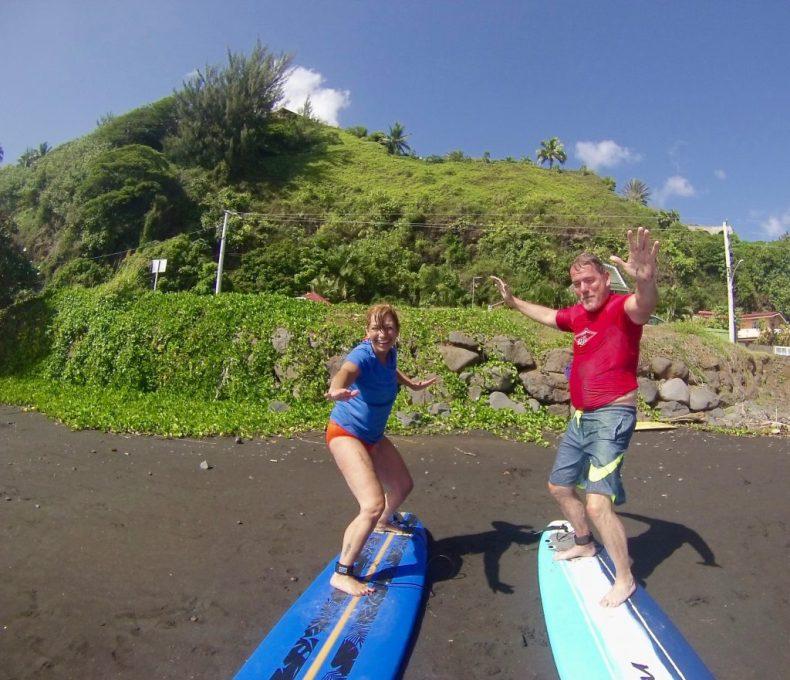 Cours de surf à Tahiti avec Mo'o Surf School - surf classes in Tahiti