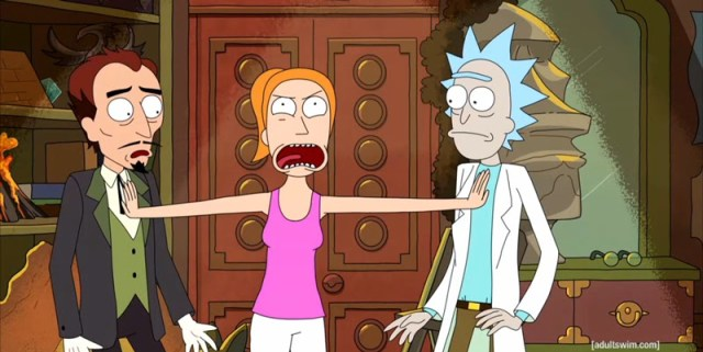 The Devil, Summer, and Rick of Rick and Morty