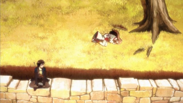 Kirito and Asuna napping