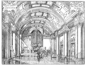Interior of the Moot Hall From the Drawing by Mr. John Belcher, A.R.A.
