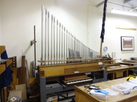 New Viole d'Orchestre in voicing shop