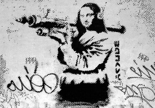 Aprocipación de la Gioconda de Banksy