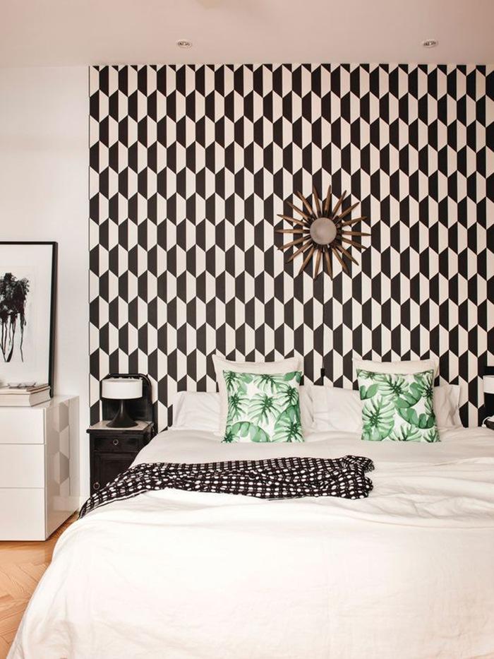 papel de pared cabecero cama