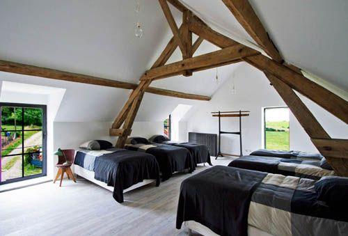 dormitorio granero reformado caa borgoña francia