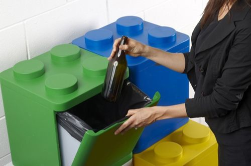 cubos basura piezas lego flusso creativo