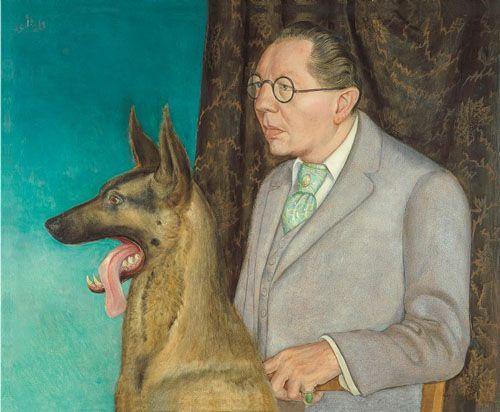 hugo erfurth con perro otto dix miradas cruzadas