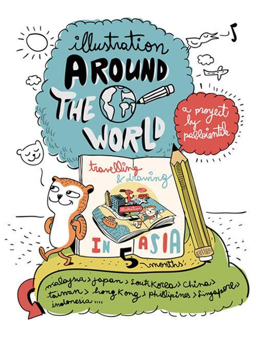 ilustracion alrededor del mundo de Pablo Ientile