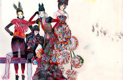 ilustracion moda felicia atanasiu