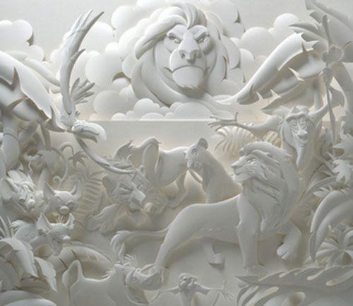 lion king escultura papel jeff nishinaka