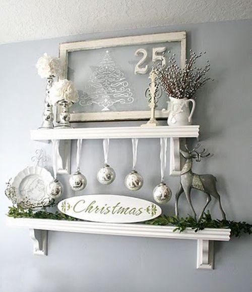 decoracion de navidad blanco baldas