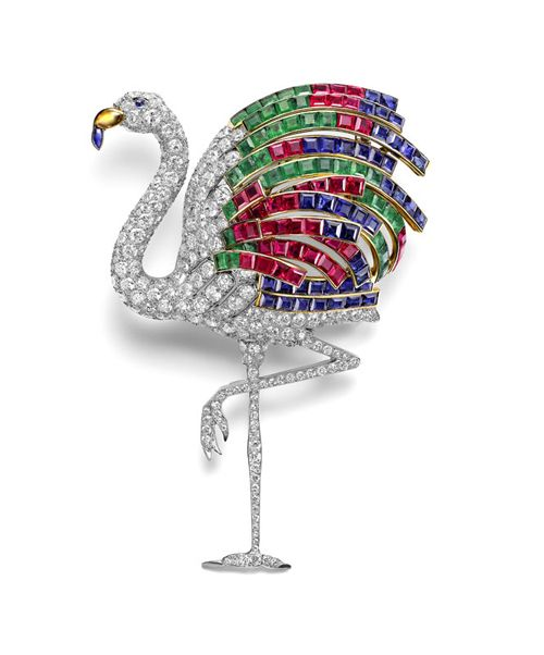 broche flamenco firma francesa joyas cartier vendido al duque windsor