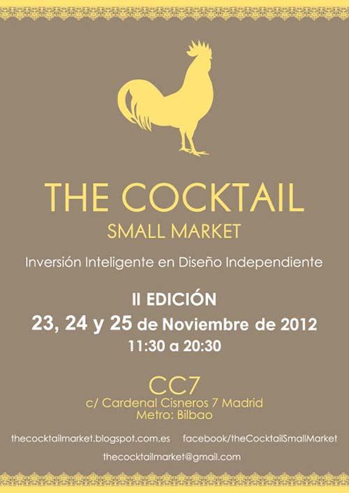 cartel mercadillo cartel the cocktail market 2012 noviembre madrid