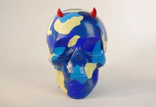calavera horny blue miliraty artista felipao