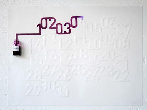 calendario tinta ink calendar