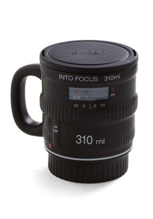 taza objetivo pour and shoot mug tienda modcloth