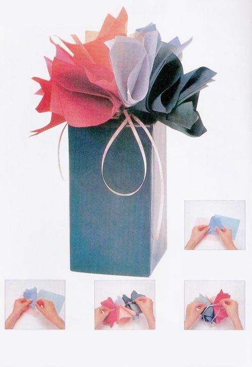 flores papel seda regalo