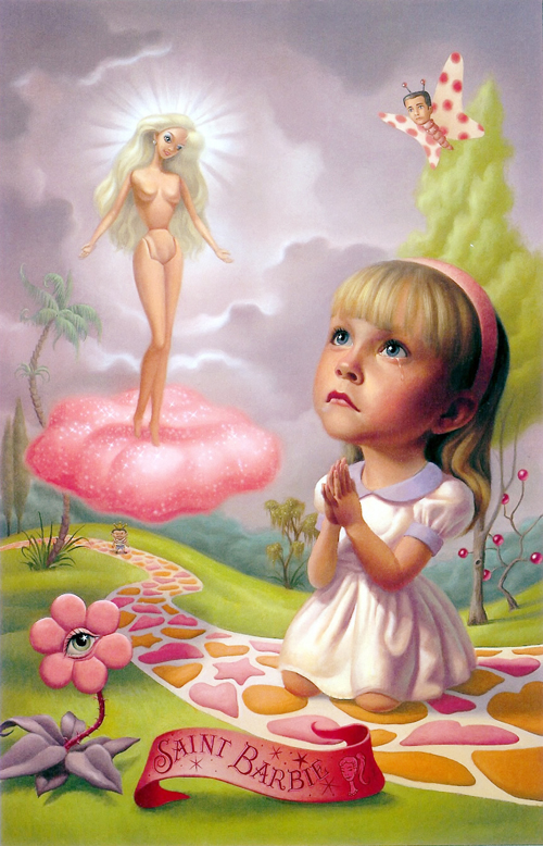 pintura saint barbie mark ryden