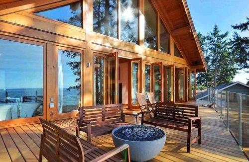 terraza exterior planta principal casa madera