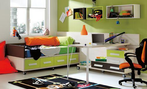 dormitorio verde juvenil kibuc
