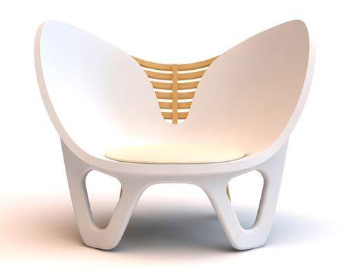 Silla innovadora de diseño escandinavo.