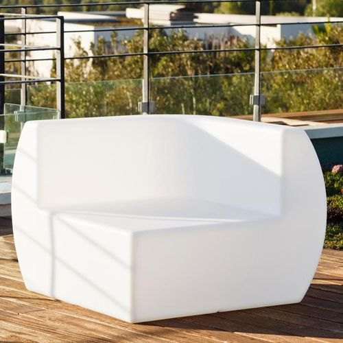 smart and green side outdoor sofa light blanco