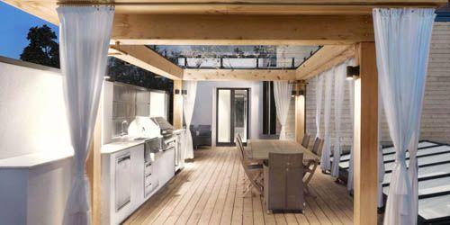 interior cocina exterior terraza martine brisson
