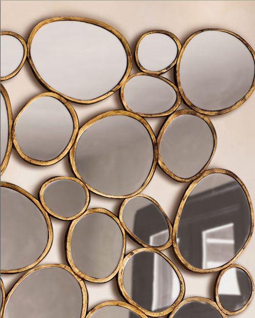 decorar paredes espejos circulares