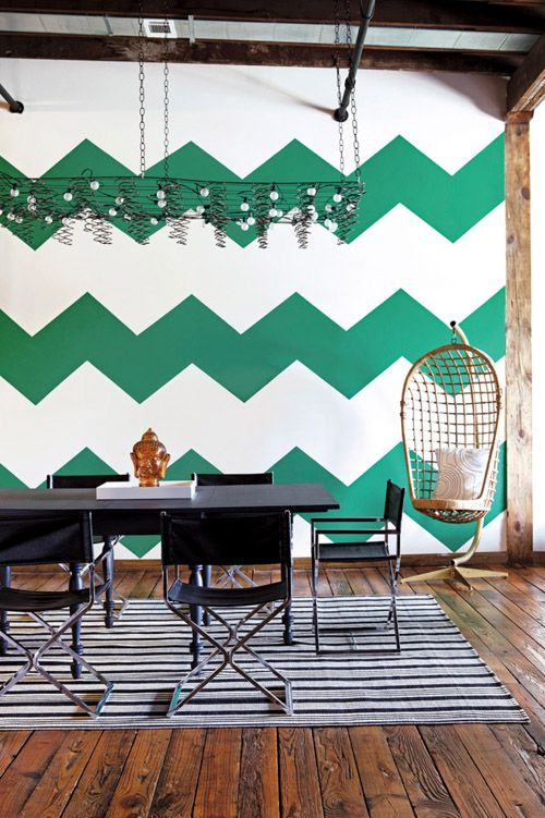 decorar paredes chevron