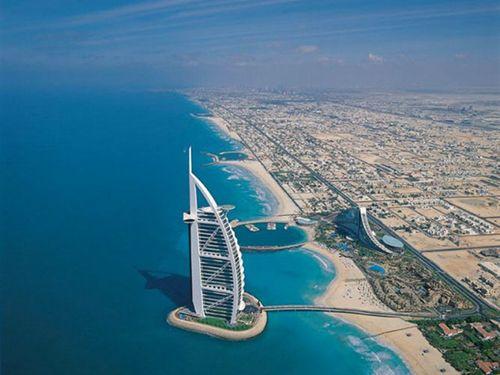 Hotel Burj Al Arab en Dubai.
