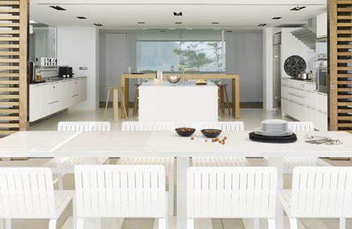 cocina terraza casa vistas mar