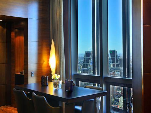 suite presidencial vistas torres kio hotel eurostars madrid