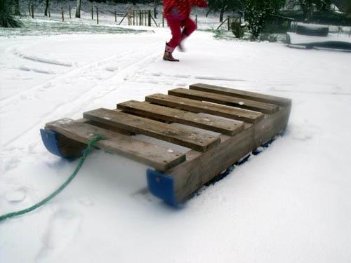 trineo nieve palet 1001pallets.com
