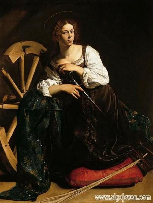 museo thyssen-bornemisza Santa Catalina de Caravaggio