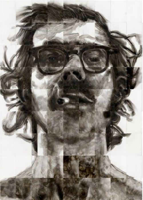 retrato chuck close steven spazuk