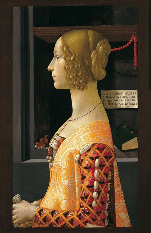 museo thyssen-bornemisza Retrato de Giovanna Tornabuoni, de Ghirlandaio.