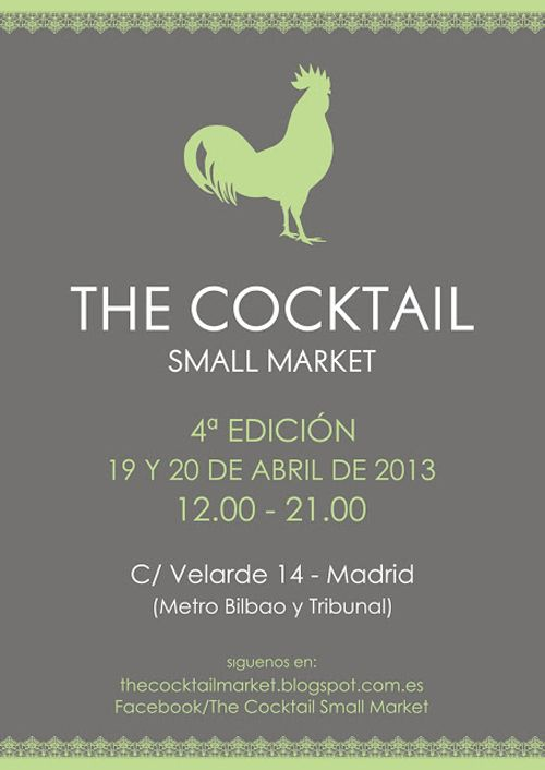 cartel cuarta convocatoria the cocktail small market thecocktailsmallmarket.com
