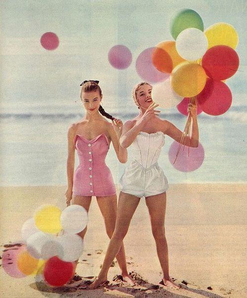 chicas vintage playa
