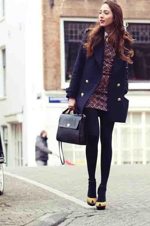 mujer moda estilo retro