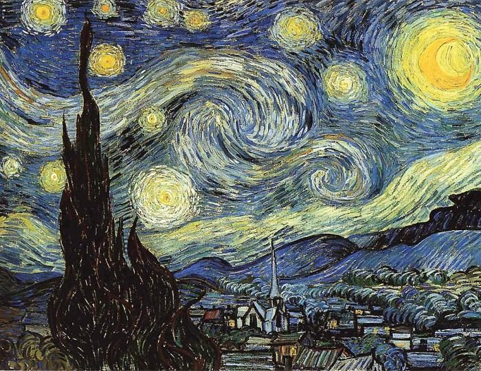 cuadro nocturno impresionista van gogh