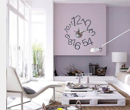 Reloj de pared pintado