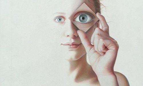 retrato realista mujer