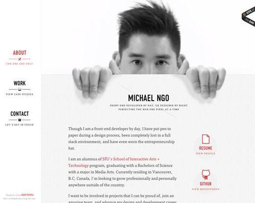 Portfolio Michael Ngo Wed designer