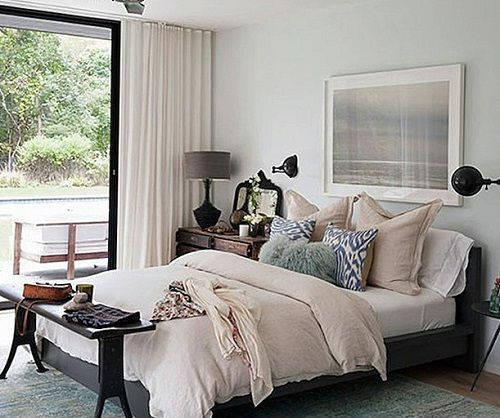 Dormitorio en los Hamptons