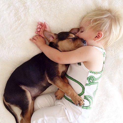 Theo y Beau abrazaditos