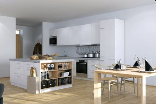 Scandinavian-Studio-Apartment-kitchen-with-open-plan-dining-and-storage-island-600x398
