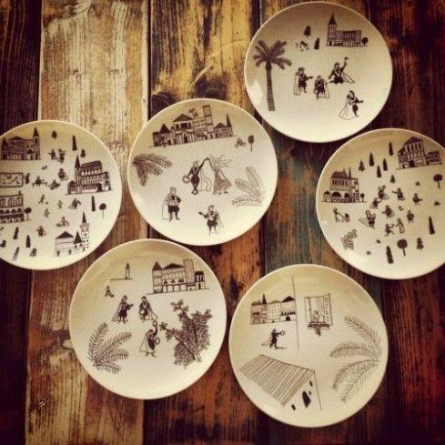 chichinabo inc decoracion platos ceramica vajilla