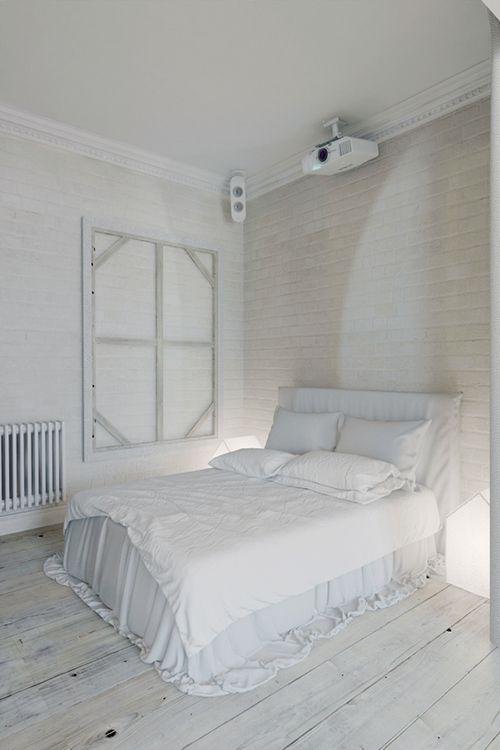 dormitorio apartamento praga estilo industrial interiorismo decoracion