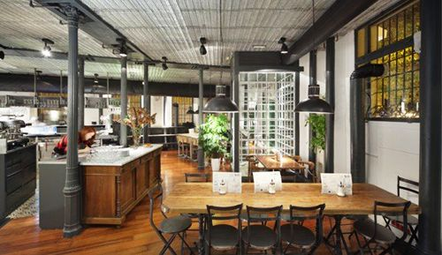 interior restaurante la musa la latina madrid decoracion
